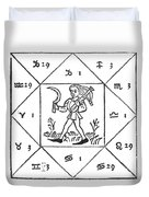 Horoscope Types, Engel, 1488 Duvet Cover by Science Source