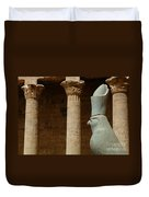 Horus Temple Of Edfu Egypt Duvet Cover by Bob Christopher