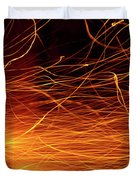 Hot Sparks Duvet Cover by Carlos Caetano