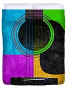 Hour Glass Guitar 4 Colors 3 Duvet Cover by Andee Design