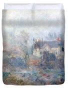 House at Falaise Duvet Cover by Claude Monet