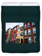 Houses In Boston Duvet Cover by Elena Elisseeva