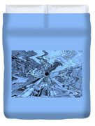 Ice Blue - Abstract Art Duvet Cover by Carol Groenen