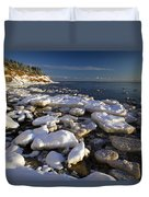 Ice Pieces, Cape Turner, Prince Edward Duvet Cover by John Sylvester
