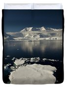 Icefloe In The Neumayer Channel Duvet Cover by Colin Monteath