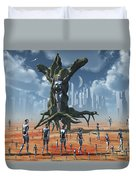 In An Alternate Reality Cyborgs Pay Duvet Cover by Mark Stevenson