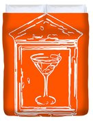 In Case Of Emergency - Drink Martini - Orange Duvet Cover by Wingsdomain Art and Photography
