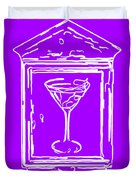 In Case Of Emergency - Drink Martini - Purple Duvet Cover by Wingsdomain Art and Photography