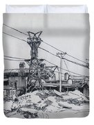Industrial Site Duvet Cover by Ylli Haruni