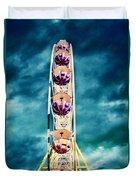 infrared Ferris wheel Duvet Cover by Stelios Kleanthous