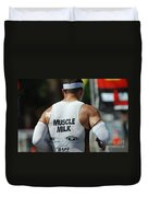 Ironman Muscle Milk Duvet Cover by Bob Christopher