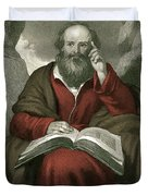 Isaiah, Old Testament Prophet Duvet Cover by Photo Researchers