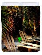 Its Margarita Time in Paradise Duvet Cover by Susanne Van Hulst