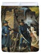 John Brown on 30 August 1856 Intercepting a Body of Pro-Slavery Men Duvet Cover by Andrew Howart