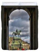 John Of Saxony Monument - Dresden Theatre Square Duvet Cover by Christine Till