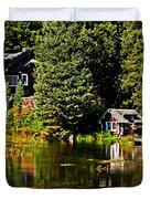 Johnny Sack Cabin II Duvet Cover by Robert Bales