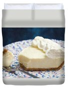 Just One Bite Of Key Lime Pie Duvet Cover by Andee Design