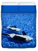 Killer Whales Duvet Cover by Dave Fleetham - Printscapes