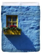 Kinsale, Co Cork, Ireland Cottage Window Duvet Cover by The Irish Image Collection