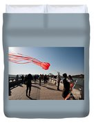 Kite Aloft Duvet Cover by Mike Reid