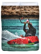 kitesurfer Duvet Cover by Stylianos Kleanthous