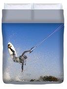 Kitesurfing Duvet Cover by Hagai Nativ