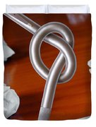 Knot on Pen Duvet Cover by Carlos Caetano