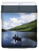 Kylemore Lake, Co Galway, Ireland Duvet Cover by The Irish Image Collection