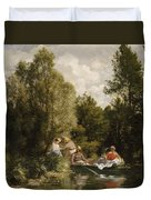 La Mare Aux Fees Duvet Cover by Pierre Auguste Renoir