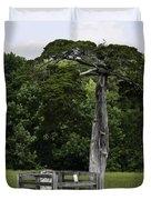 Lafayette Meeks Cemetery Appomattox Virginia Duvet Cover by Teresa Mucha