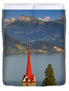 Lake Lucerne Duvet Cover by Brian Jannsen