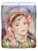 L'algerienne Duvet Cover by Pierre Auguste Renoir