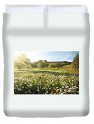Landscape With Daisies Duvet Cover by Carlos Caetano