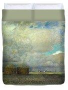 Landscape With Huts Duvet Cover by Leopold Karl Walter von Kalckreuth
