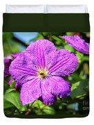 Last Summer Bloom Duvet Cover by Mariola Bitner