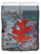 Leaf Life 01 - T01b Duvet Cover by Variance Collections