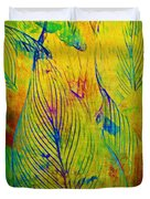 Leaves In The Jungle Duvet Cover by Judi Bagwell