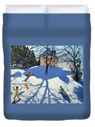 Les Gets Duvet Cover by Andrew Macara