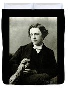 Lewis Carroll, English Author Duvet Cover by Photo Researchers