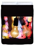 Light Bulb And Bokeh Duvet Cover by Setsiri Silapasuwanchai