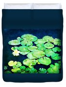 Lily Pads And Lotus Duvet Cover by Tammy Wetzel