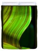 Lime Curl Duvet Cover by Dana Kern