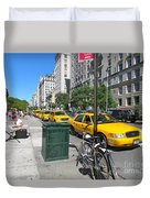 Lined Up For Business Duvet Cover by Randi Shenkman