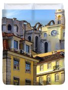 Lisbon Buildings Duvet Cover by Carlos Caetano