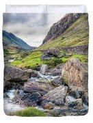 Llanberis Pass Duvet Cover by Adrian Evans