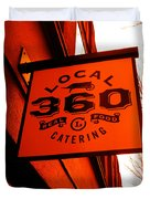 Local 360 In Orange Duvet Cover by Kym Backland