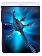 Loch Ness Monster Duvet Cover by Victor Habbick Visions and Photo Researchers