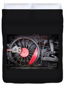 Locomotive Wheel Duvet Cover by Carlos Caetano