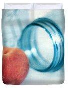 Lone Peach Duvet Cover by Darren Fisher