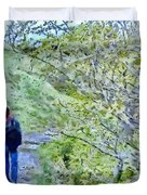 Lonely Path Duvet Cover by Jeff Kolker